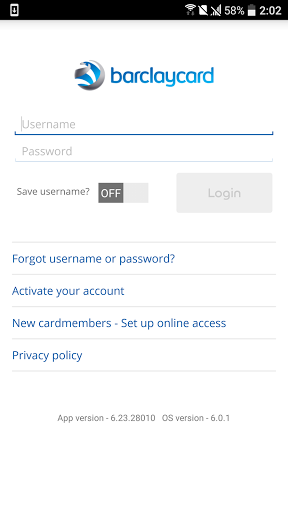 Barclaycard for Android 6.25.35754 screenshots 2