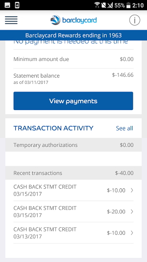 Barclaycard for Android 6.25.35754 screenshots 4