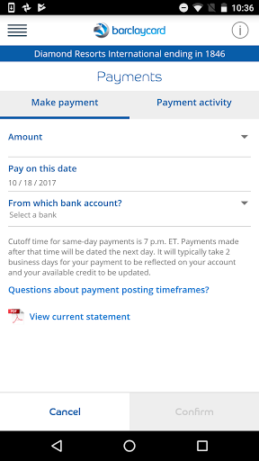 Barclaycard for Android 6.25.35754 screenshots 6