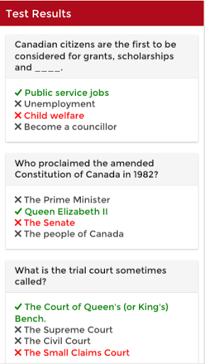 Canadian Citizenship Test 2017 1.0.2 screenshots 6