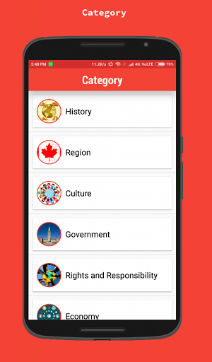 Canadian Citizenship Test 2018 1.6 screenshots 2