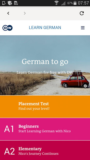 DW Learn German – A1 A2 B1 and placement test 1.0 screenshots 1