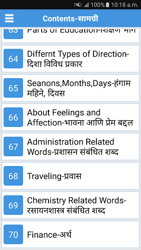 Daily Words English to Marathi 1.2 screenshots 2