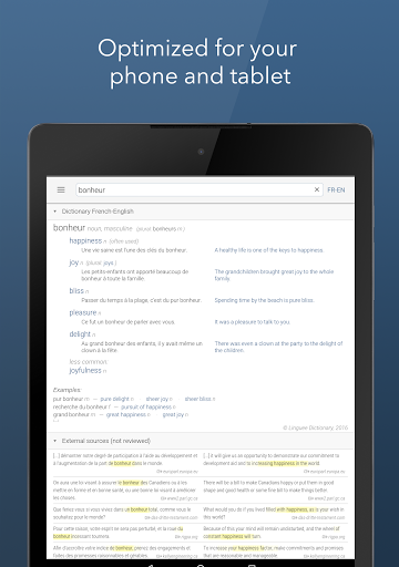 Dictionary Linguee 1.3.0 screenshots 7