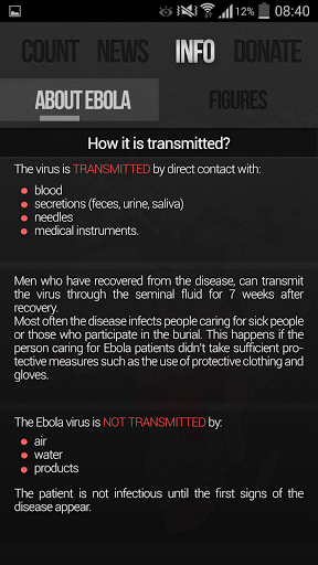 Ebola Outbreak News amp Donation 1.2.3 screenshots 4