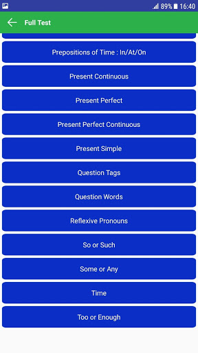 English Grammar And Test 1.1 screenshots 3