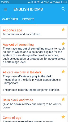 English Idioms amp Phrases 1.1 screenshots 4