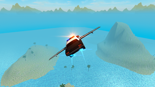 Flying Car Free Police Chase 1 screenshots 3