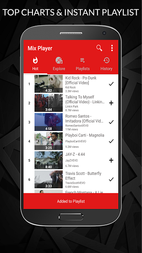 Free Music Player for YouTube Unlimited Songs 1.1.012 screenshots 2