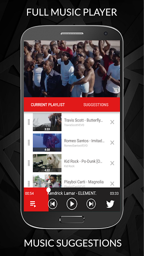 Free Music Player for YouTube Unlimited Songs 1.1.012 screenshots 3