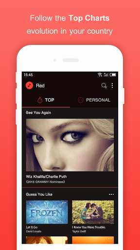 Free Music for Youtube Player Red 1.37.1 screenshots 2