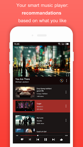 Free Music for Youtube Player Red 1.37.1 screenshots 4