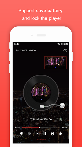 Free Music for Youtube Player Red 1.37.1 screenshots 6