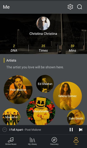 GO Music Player Plus -Free MusicThemesMP3 Player 1.6.0 screenshots 3
