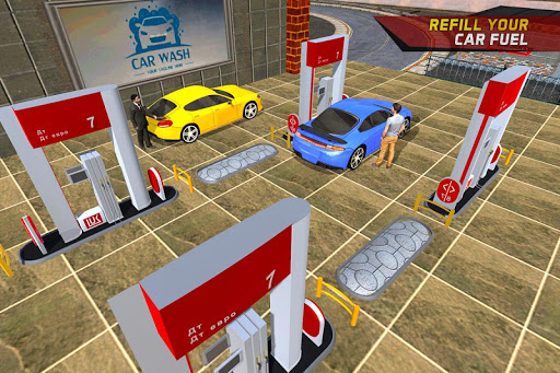 Gas Car Station Services Highway Car Driver screenshots 1