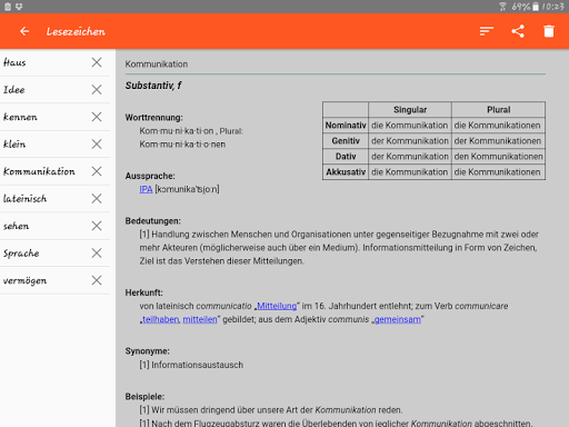 German Dictionary Offline screenshots 13