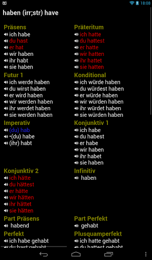 German Verbs 14070 screenshots 7