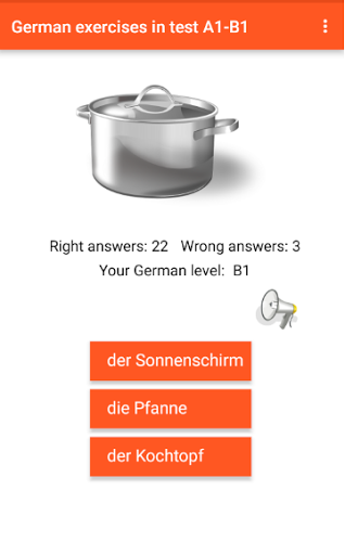 German exercise in test A1-B1 Grammar training 1.4 screenshots 11