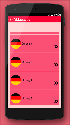 German grammar Exercises A1 1.0.5 screenshots 3