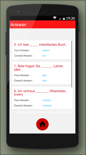 German grammar Exercises B1 1.0.5 screenshots 4