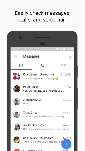 Google Voice screenshots 1