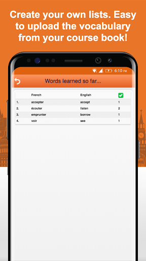 Learn French Vocabulary Free 2.6.1 screenshots 7