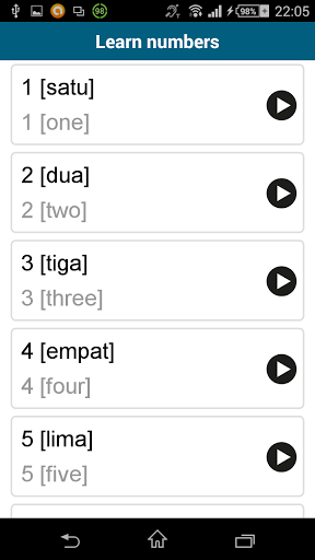 Learn Indonesian -50 languages 10.4 screenshots 6
