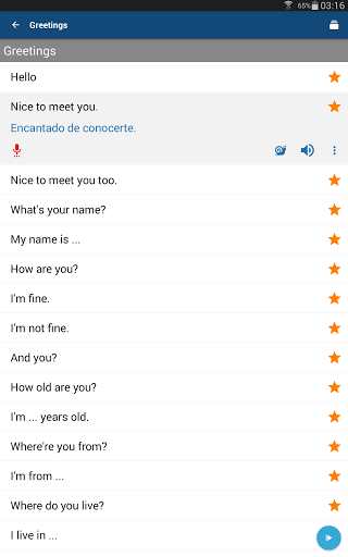 Learn Spanish Phrases Spanish Translator screenshots 6