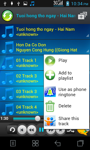 Mp3 player 1.7 screenshots 2