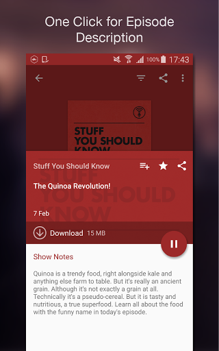 Podcast Player 5.4.9-171227055.r0a5485c screenshots 6