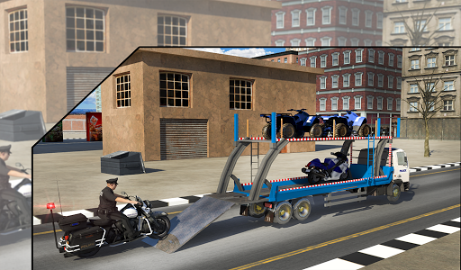 Police Airplane Transport Bike 1.2 screenshots 12