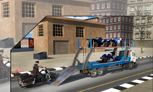 Police Airplane Transport Bike 1.2 screenshots 2