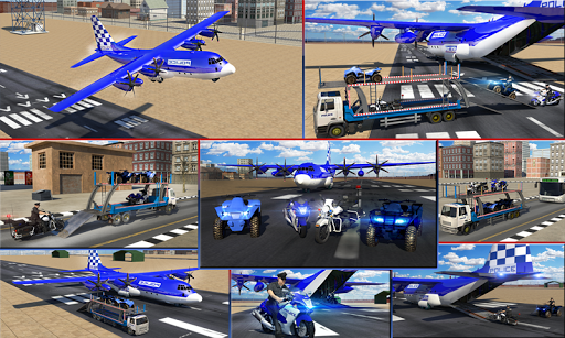 Police Airplane Transport Bike 1.2 screenshots 5
