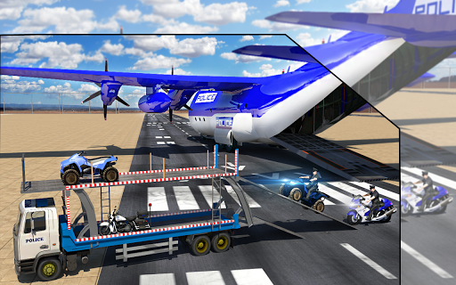 Police Airplane Transport Bike 1.2 screenshots 6