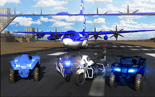 Police Airplane Transport Bike 1.2 screenshots 8