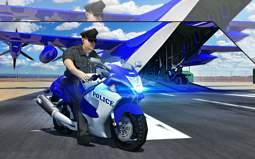 Police Airplane Transport Bike 1.2 screenshots 9