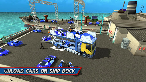 Police Car Transporter Ship 1.0.7 screenshots 3
