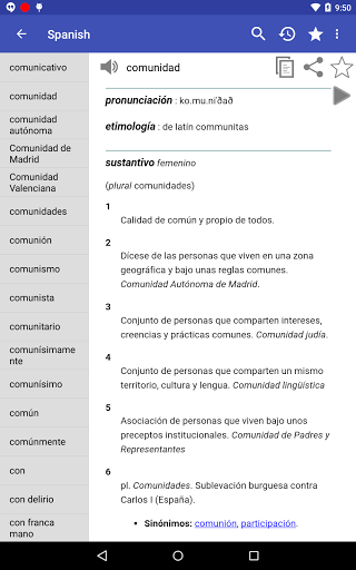 Spanish Dictionary – Offline 3.8 screenshots 15