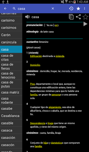 Spanish Dictionary – Offline 3.8 screenshots 16