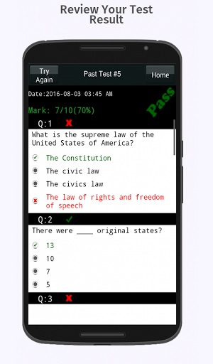 US Citizenship Test 2018 – Free App 9.5 screenshots 3