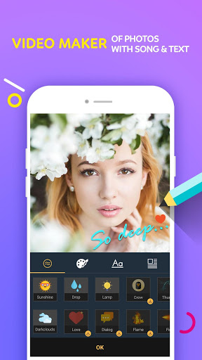Video Maker Of Photos With Song amp Video Editor screenshots 2