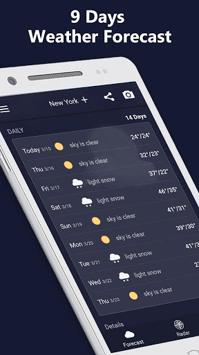 Weather Radar amp Forecast 1.9.3 screenshots 3