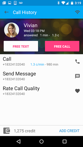 Free Calls amp Text Messenger 6.0.0 screenshots 1