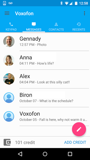 Free Calls amp Text Messenger 6.0.0 screenshots 2