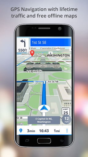 GPS Navigation – Drive with Voice Maps amp Traffic screenshots 1