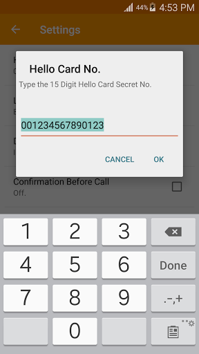 Hello Card Dialer 1.29 screenshots 3