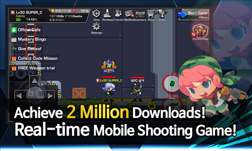 LOSTGUNS 2D pixel online Shooting game PVP screenshots 3