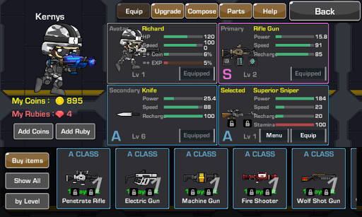 LOSTGUNS 2D pixel online Shooting game PVP screenshots 9
