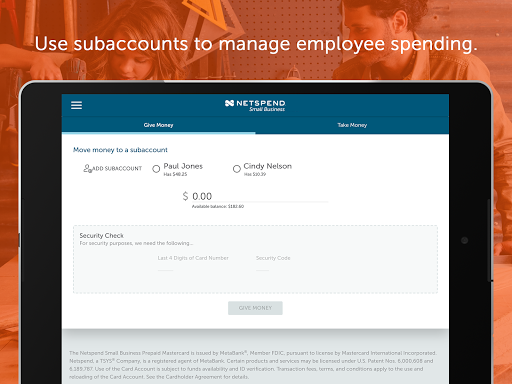 NetSpend Small Business screenshots 7