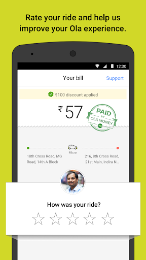 Ola cabs – Taxi Auto Car Rental Share Booking screenshots 5